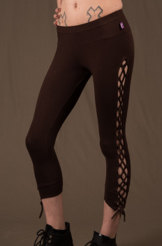 P6 - Legg'in 3/4 long in Cotton-lycra with linked open legg sides