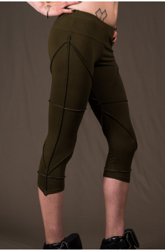 P23 - Legg'in 3/4 long in Cotton-lycra with overlock and cutting