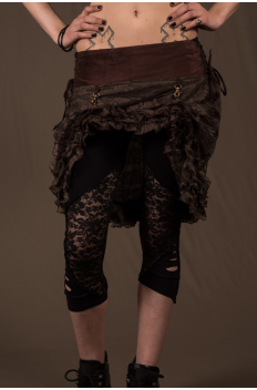 SK6 - Skirt in Lace and Crumpled Lace, Front Raising Hooks