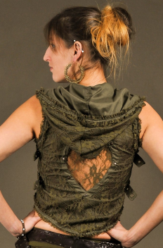 Bolero Hood Lace with Backless and Brass sides Buckles
