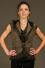 Veste cloutée féminine sans manche à capuche avec froissé de filet & dentelle